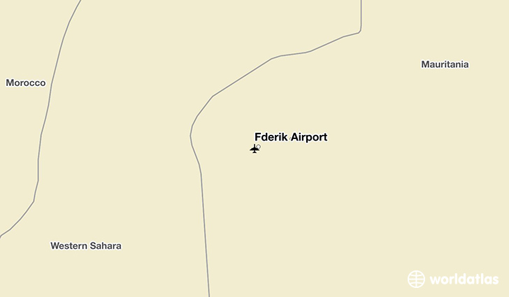 Fderik Airport location on a map