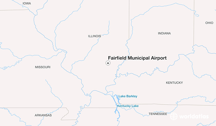 Fairfield Municipal Airport location on a map