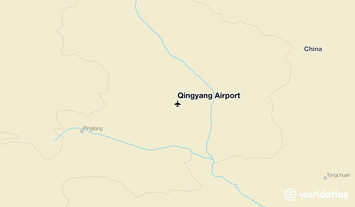 Qingyang Airport location on a map