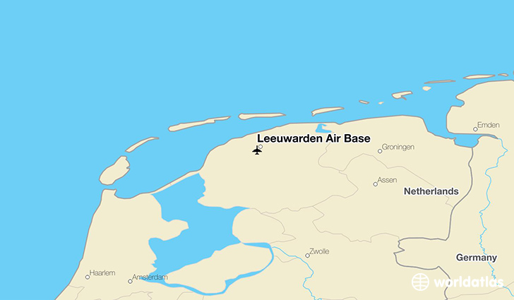 Leeuwarden Air Base location on a map