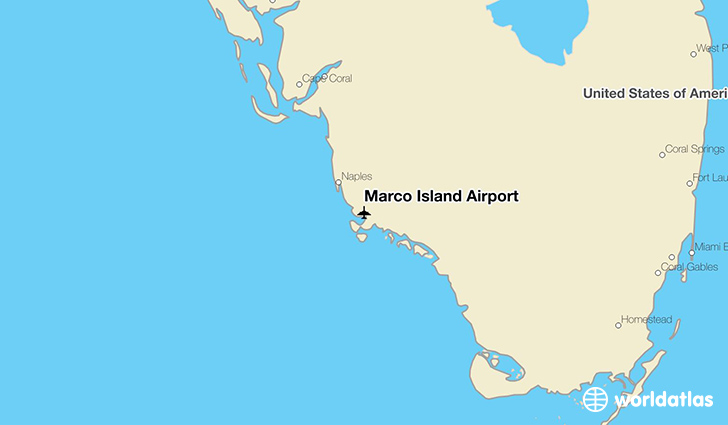 Marco Island Airport location on a map