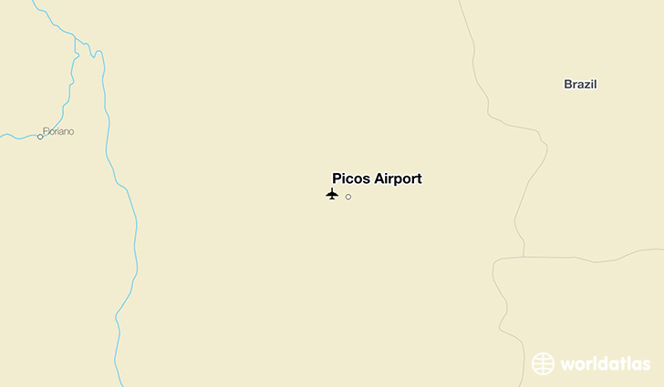 Picos Airport location on a map