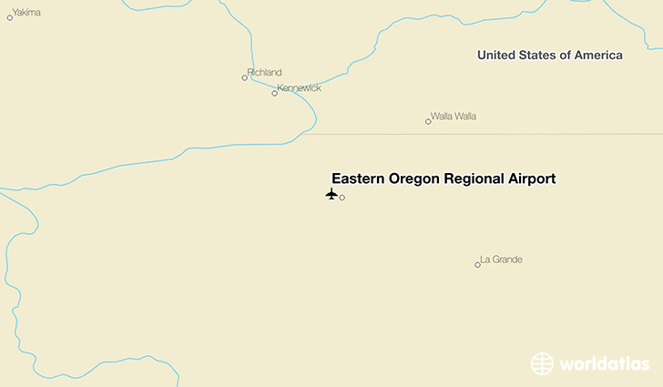 Eastern Oregon Regional Airport location on a map