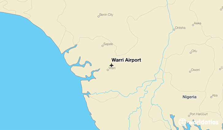 Warri Airport location on a map