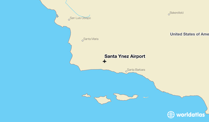 Santa Ynez Airport location on a map