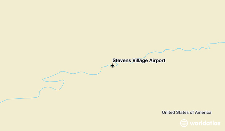 Stevens Village Airport location on a map