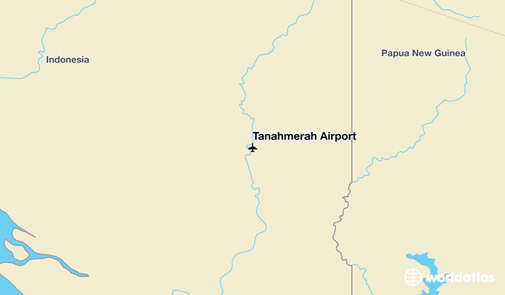 Tanahmerah Airport location on a map