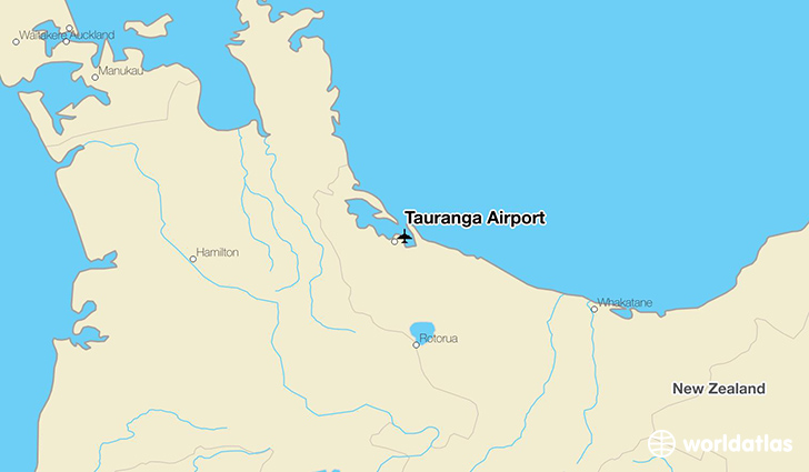 Tauranga Airport location on a map