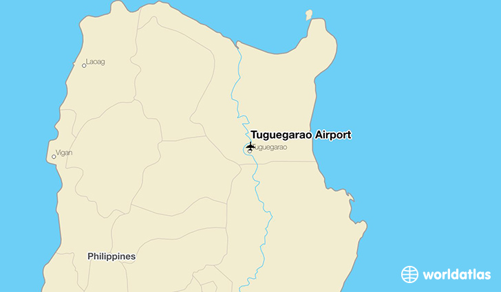 Tuguegarao Airport location on a map