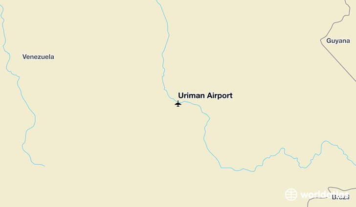 Uriman Airport location on a map