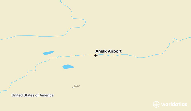 Aniak Airport location on a map