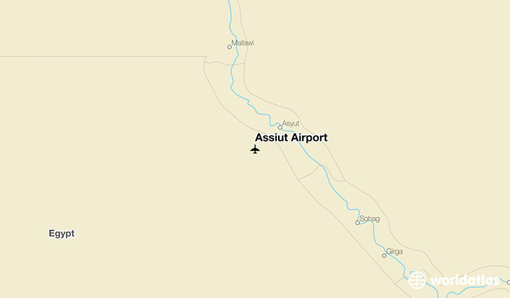 Assiut Airport location on a map