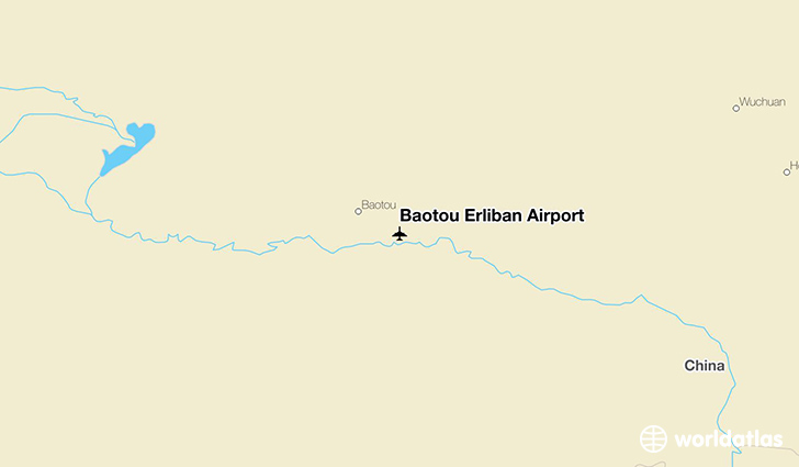 Baotou Erliban Airport location on a map