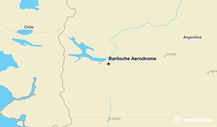 Bariloche Aerodrome location on a map