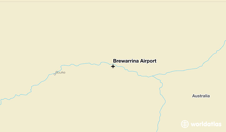 Brewarrina Airport location on a map