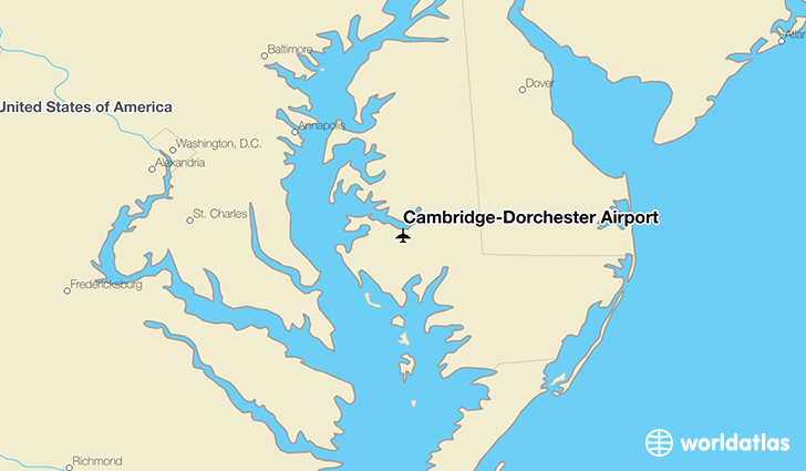 Cambridge-Dorchester Airport location on a map