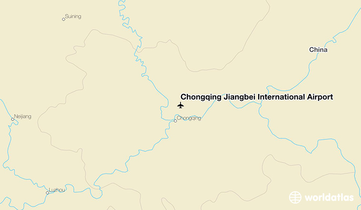 Chongqing Jiangbei International Airport location on a map
