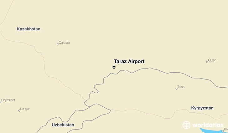 Taraz Airport DMB WorldAtlas - Taraz map