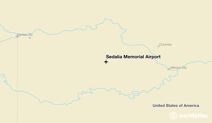 Sedalia Memorial Airport location on a map