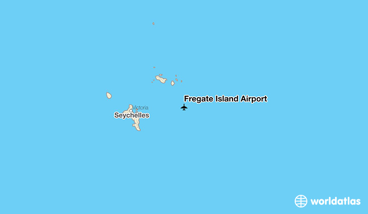 Frégate Island Airport location on a map