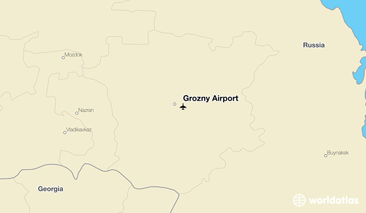 Grozny Airport location on a map