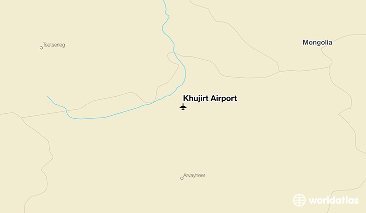 Khujirt Airport location on a map