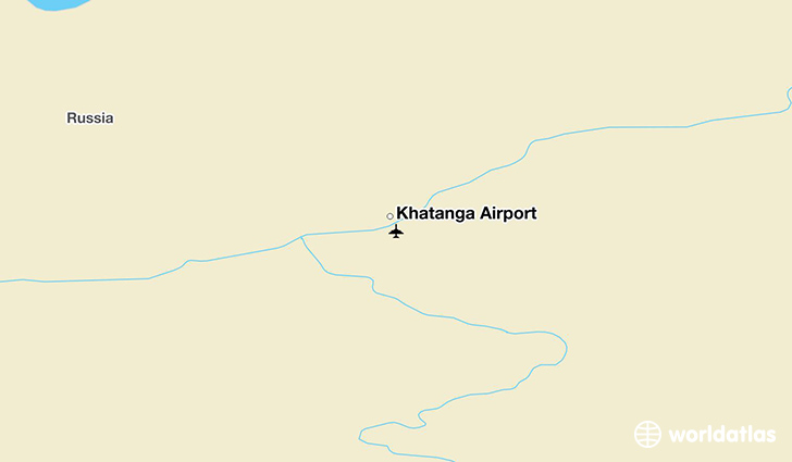 Khatanga Airport location on a map