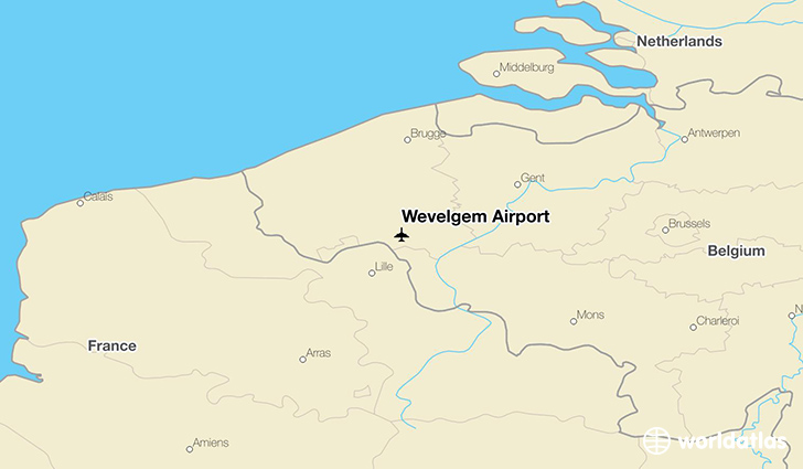 Wevelgem Airport location on a map