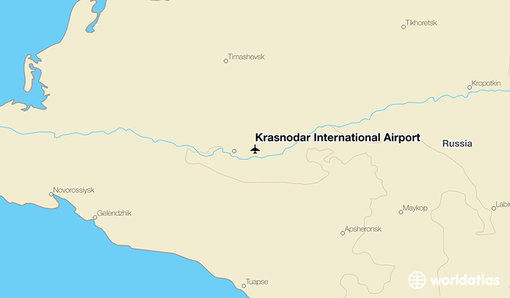 Krasnodar International Airport location on a map