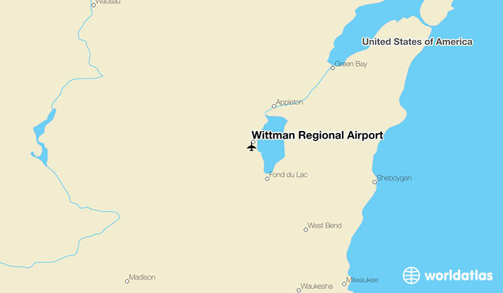 Wittman Regional Airport location on a map