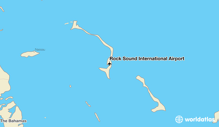 Rock Sound International Airport location on a map