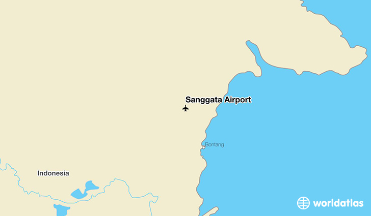 Sanggata Airport location on a map