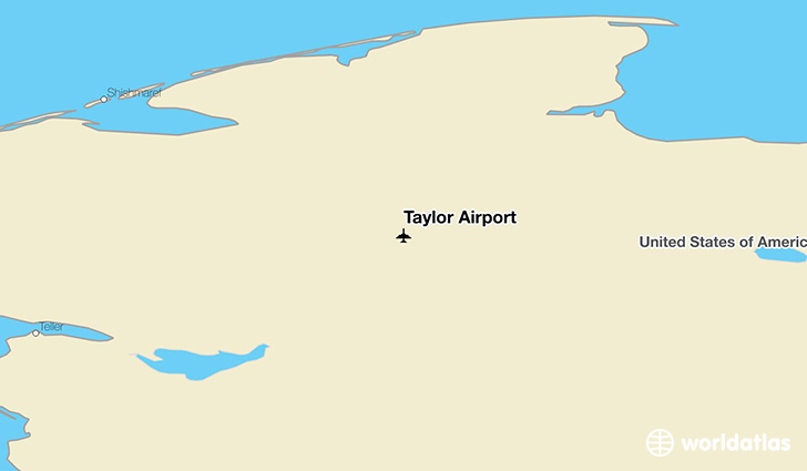 Taylor Airport location on a map