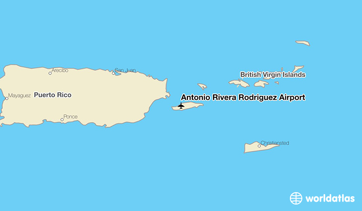 Antonio Rivera Rodríguez Airport location on a map
