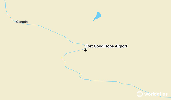 Fort Good Hope Airport location on a map
