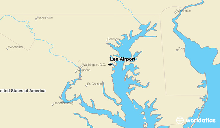 Lee Airport location on a map