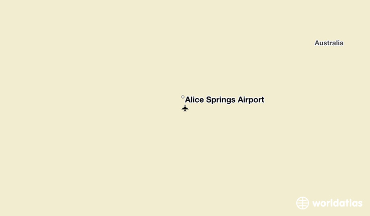 Alice Springs Airport location on a map