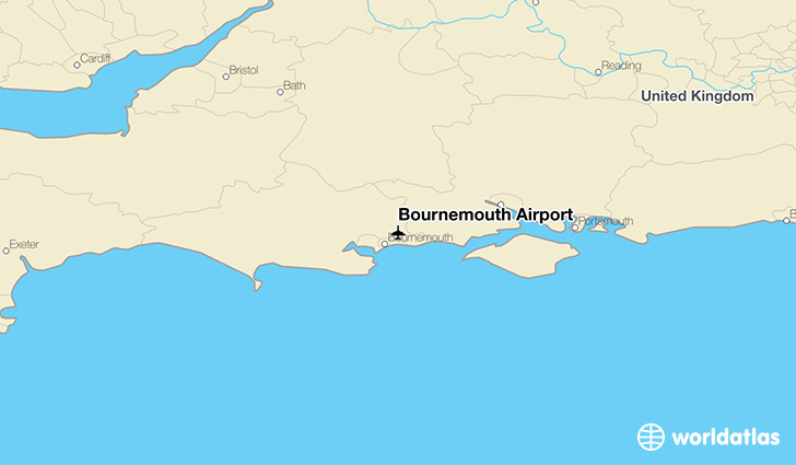 Bournemouth Airport location on a map