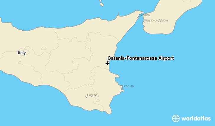 Catania–Fontanarossa Airport location on a map