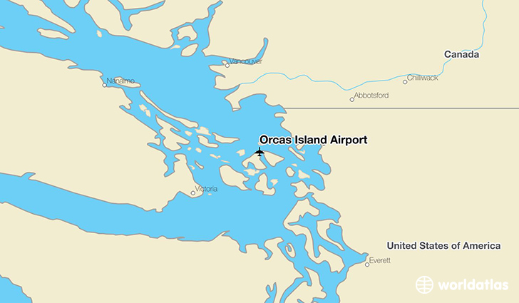 Orcas Island Airport location on a map