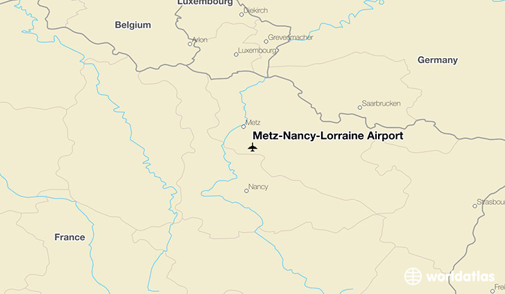 Metz-Nancy-Lorraine Airport location on a map