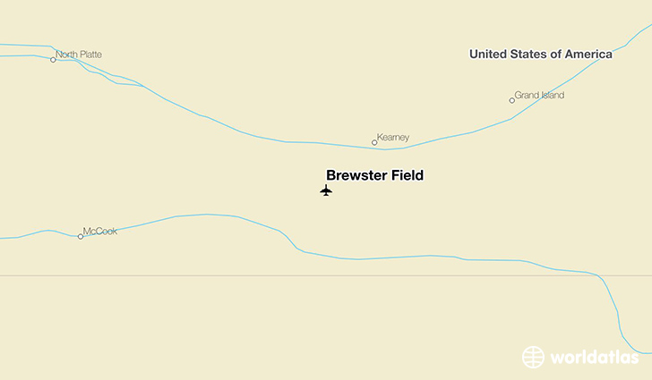Brewster Field location on a map