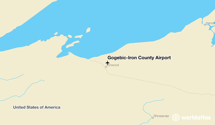Gogebic-Iron County Airport location on a map