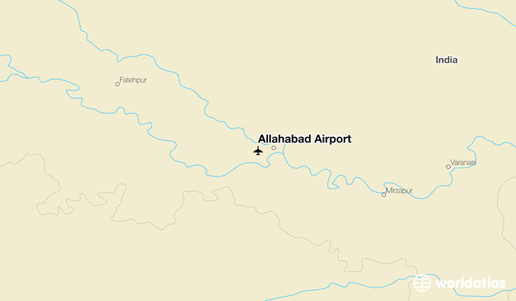 Allahabad Airport location on a map