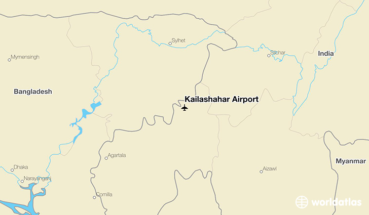 Kailashahar Airport location on a map