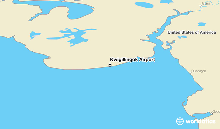Kwigillingok Airport location on a map