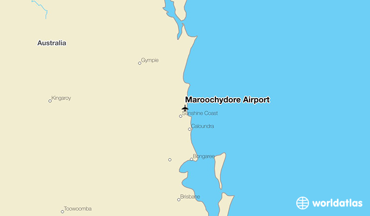 Maroochydore Airport location on a map