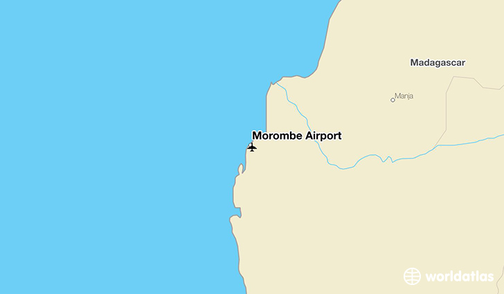 Morombe Airport location on a map