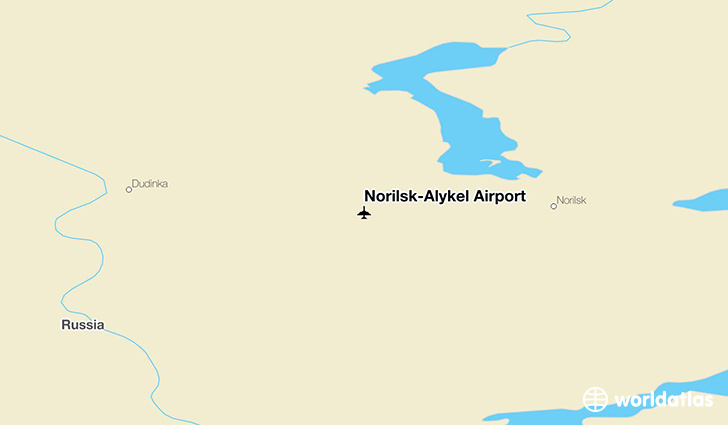 Norilsk-Alykel Airport location on a map