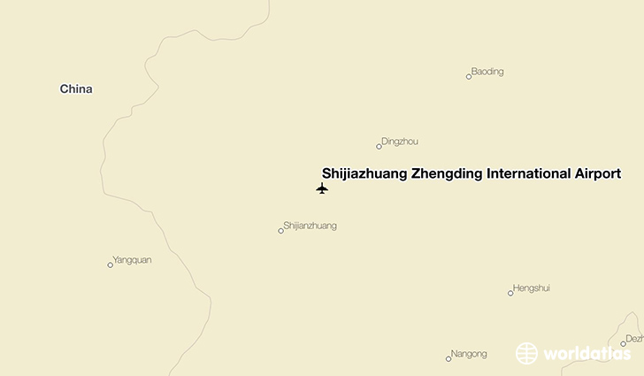 Shijiazhuang Zhengding International Airport location on a map